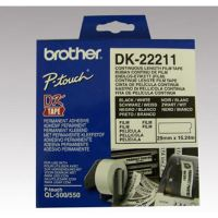 Filmová role Brother DK22211, 29mm x 15.24m, bílá, 1 ks