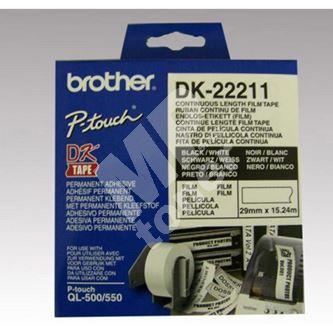 Role filmová Brother 29mm x 15.24m, bílá, 1 ks, DK22211, pro tiskárny štítků 1