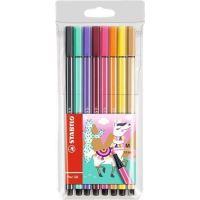 Sada fixů STABILO Pen 68 Living Colors, 8 různých barev, Lama, 1 mm