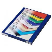 Přední fólie pro kroužkovou vazbu PRESTIGE, A4, 200 mic, modrá, 100 ks