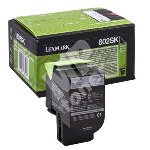 Toner Lexmark 80C2SK0, CX310dn, CX310n, CX410de, CX410, black, originál