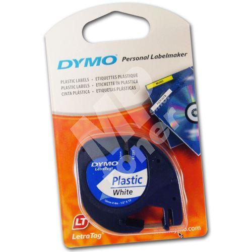 Páska Dymo LetraTag 12mm x 4m plastová bílá, 59422, S0721560 1
