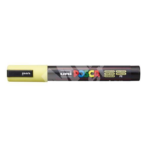 Uni Posca PC-5M akrylový popisovač, 2,5 mm, pastelová žlutá 1