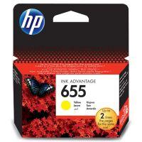 Inkoustová cartridge HP CZ112AE, Deskjet 3525, 5525, 6525, 4615, yellow, No.655, originál