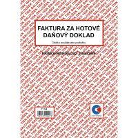 Faktura za hotové daňový doklad A5 PT198, samopropis, 50 listů