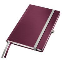 Zápisník A5 Leitz STYLE, linkovaný, granátově červený