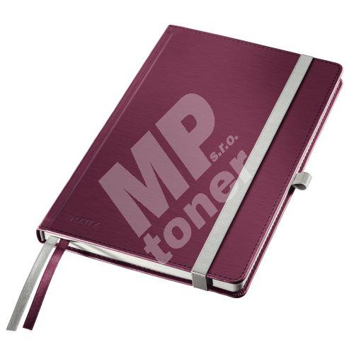 Zápisník Leitz STYLE A5, tvrdé desky, linkovaný, granátově červený 1
