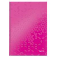 Zápisník A4 Leitz WOW, linkovaný, růžový