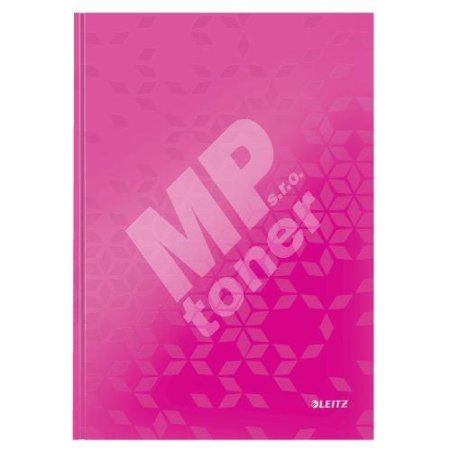 Zápisník Leitz WOW A4, linkovaný, růžový 1