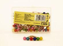 Špendlíky aranžerské s plastovou hlavičkou HEA0506, 1bal/100ks 3
