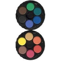 Vodové barvy 22,5mm 6 odstínů, kulaté