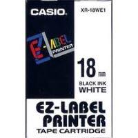 Páska do tiskárny štítků Casio XR-18WE1 18mm černý tisk/bílý podklad