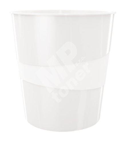 Odpadkový koš Leitz WOW, perleťově bílý 1
