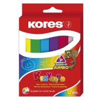 Voskové pastelky Kores Krayones Jumbo, trojhranné 12 ks