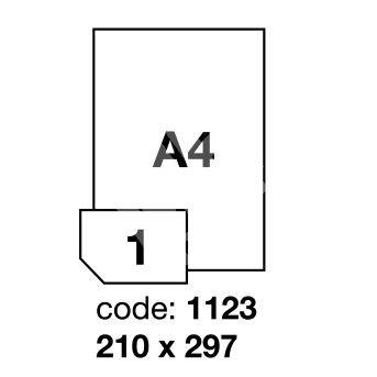 Samolepící etikety Rayfilm Synthetic 210x297 mm 100 archů, polyesterové, R0502.1123A 1
