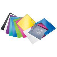 Desky s gumičkou Wow Jumbo, růžová, 30 mm, PP, A4, LEITZ 3