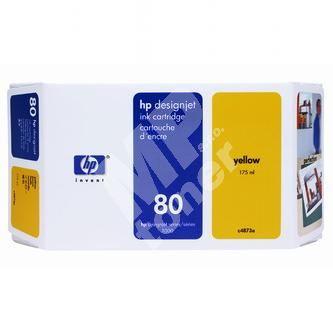 Inkoustová cartridge HP C4873A žlutá, No. 80, originál