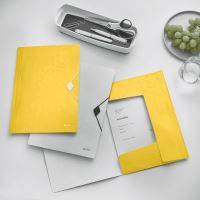 Desky s gumičkou Leitz Wow, A4, PP, žlutá 3