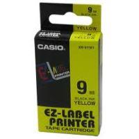Páska do tiskárny štítků Casio XR-9YW1 9mm černý tisk/žlutý podklad