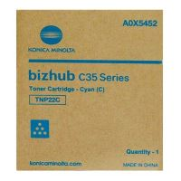 Toner Konica Minolta TNP-22C Bizhub C35P, cyan, A0X5452, originál