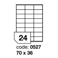 Samolepící etikety Rayfilm Synthetic 70x36 mm 100 archů, polyesterové, R0502.0527A