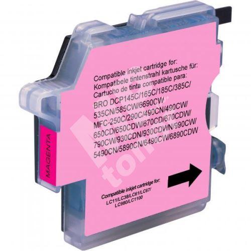 Kompatibilní cartridge Brother LC-980M, DCP 145C, DCP165C, magenta, Uprint