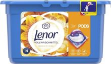 Lenor 3v1 Silk Orchid gelové kapsle na praní prádla 14 kusů 369,6 g