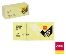 Samolepící bloček Deli Stick Up 38x51mm, žlutý