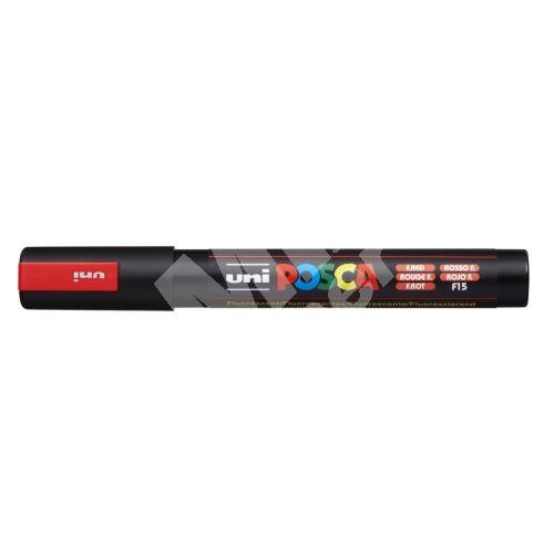Uni Posca PC-5M akrylový popisovač, 2,5 mm, fluo-červený 1