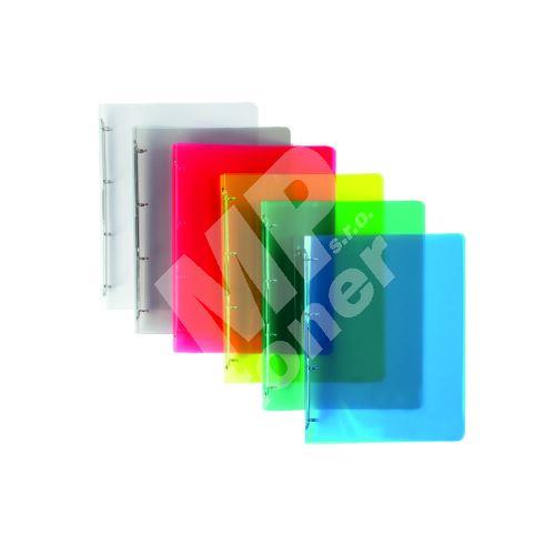 Pořadač A4 4 kroužek průhledný 2 cm transparentní 1