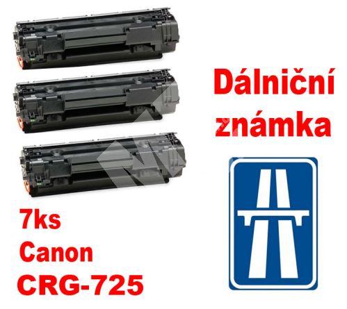 7ks kompatibilní toner Canon CRG-725, MP print + dálniční známka 1