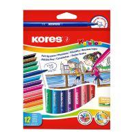 Dětské fixy Kores Korello, tenký hrot 12 barev