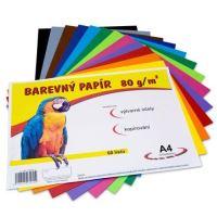 Barevný papír A4, 80g, mix 12 barev, 60 listů