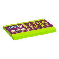 Samolepicí bloček Stick'n Extra Sticky neonově zelený, 76 x 127 mm