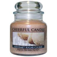 Cheerful Candle Vonná svíčka ve skle Máslová Sušenka - Gourmet Sugar Cookie, 16oz