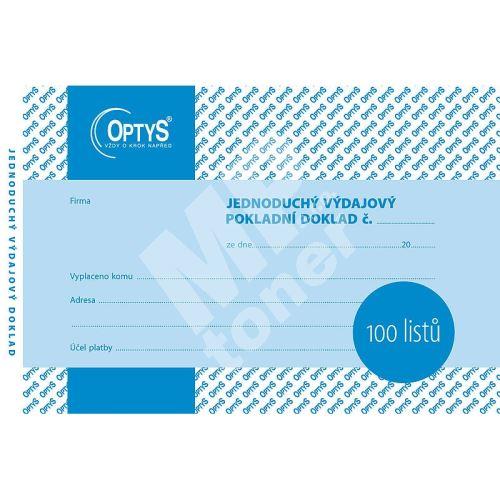 Jednoduchý výdajový doklad A6, 100 listů, OP1036 1
