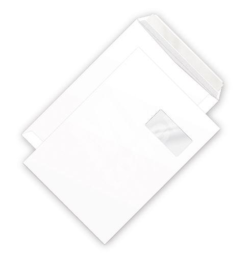 Poštovní obálka C4 bílá s okénkem a krycí páskou/cena za 1000 ks 2