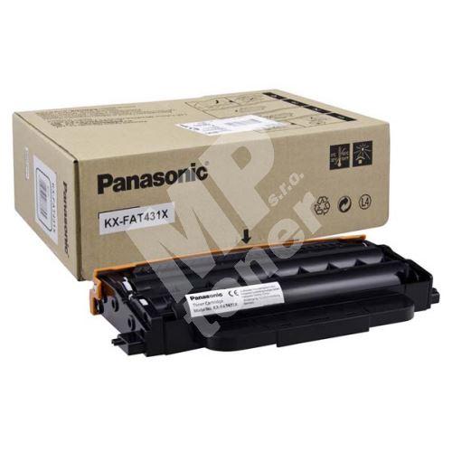 Toner Panasonic KX-FAT431X, black, originál 1