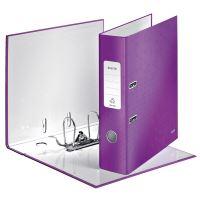 Pákový pořadač 180 Wow, purpurová, lesklý, 80 mm, A4, PP/karton, LEITZ 2