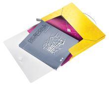 Desky s gumičkou Wow Jumbo, žlutá, 30 mm, PP, A4, LEITZ 5