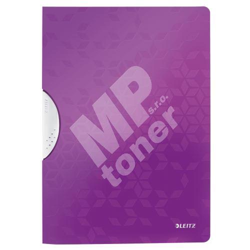 Desky s klipem Leitz WOW, PP, purpurové 1
