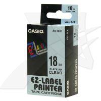 Páska do tiskárny štítků Casio XR-18X1 18mm černý tisk/průhledný podklad