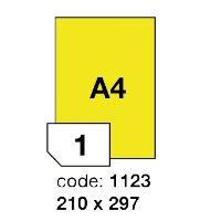 Samolepící etikety Rayfilm Office 210x297 mm 100 archů, matně žlutá, R0121.1123A