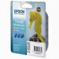 Inkoustová cartridge Epson C13T048B40, RX500, R200, 3x13ml, 430s, LC/LM/Y PACK originál