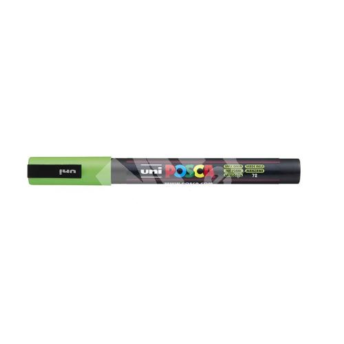 Uni Posca PC-3M akrylový popisovač, 0,9-1,3 mm, zelené jablko 1