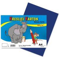 Kreslící karton A4, 180g, tmavě modrý, 50 listů