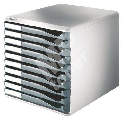 Zásuvkový box Leitz 10 zásuvek, šedý 1