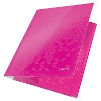 Tříchlopňové desky Leitz WOW A4, růžové 2