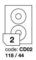 Samolepící etikety Rayfilm Synthetic průměr 118/44 mm 300 archů, polyesterové, R0504.CD02D