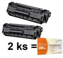 2ks kompatibilní toner HP Q2612A MP print + Tesco 200 Kč